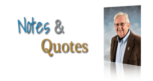 Notes and Quotes by Tom Morrow