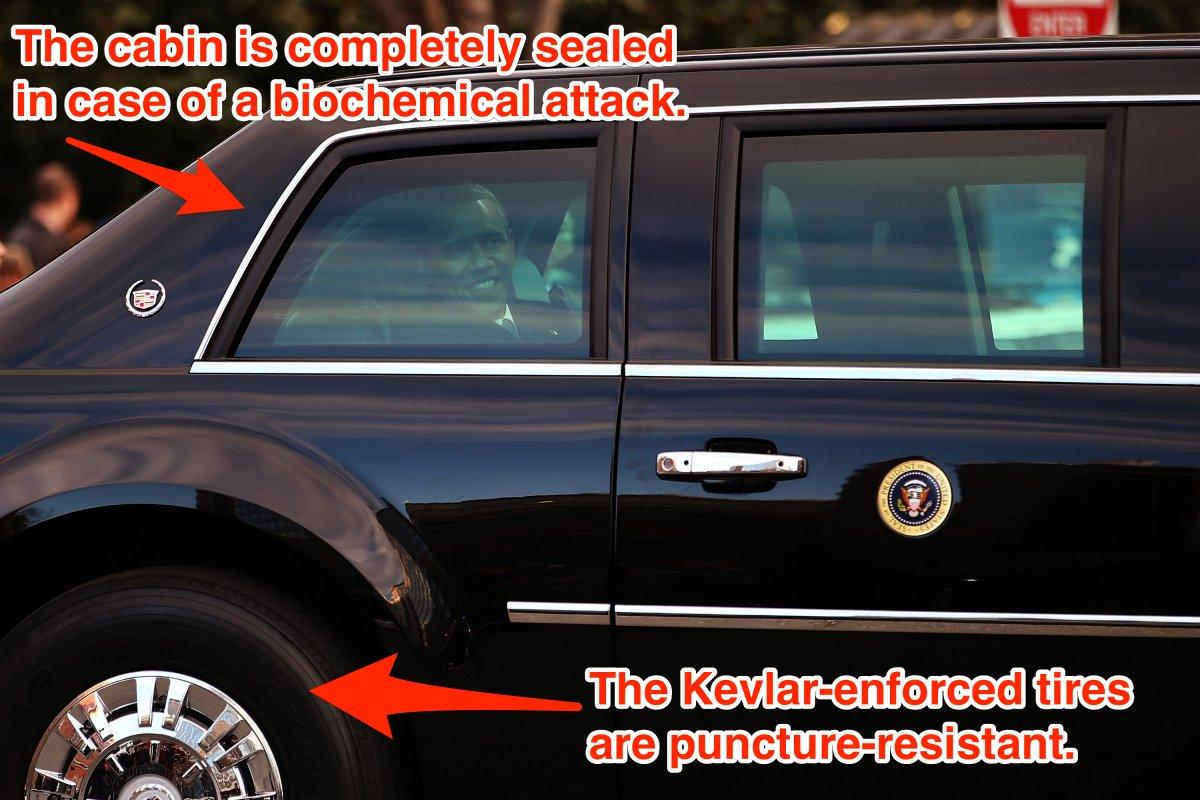 how safe is the us president 39 s limo osoti. Black Bedroom Furniture Sets. Home Design Ideas