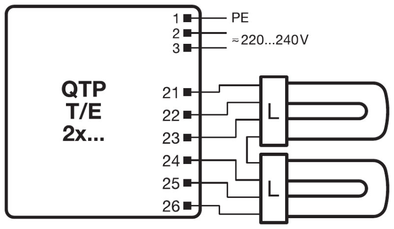 Compact Fluorescent Wiring Diagram