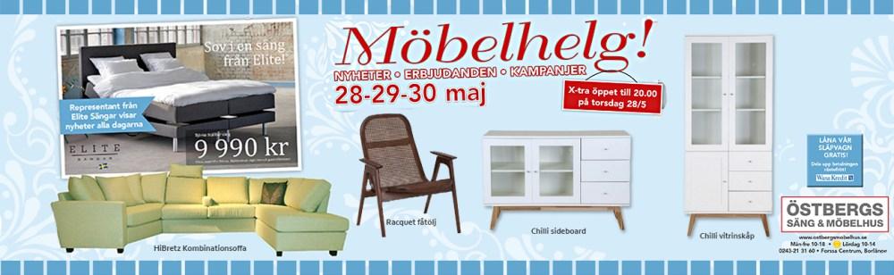 Stor Möbelhelg 28-29 maj. Erbjudanden!