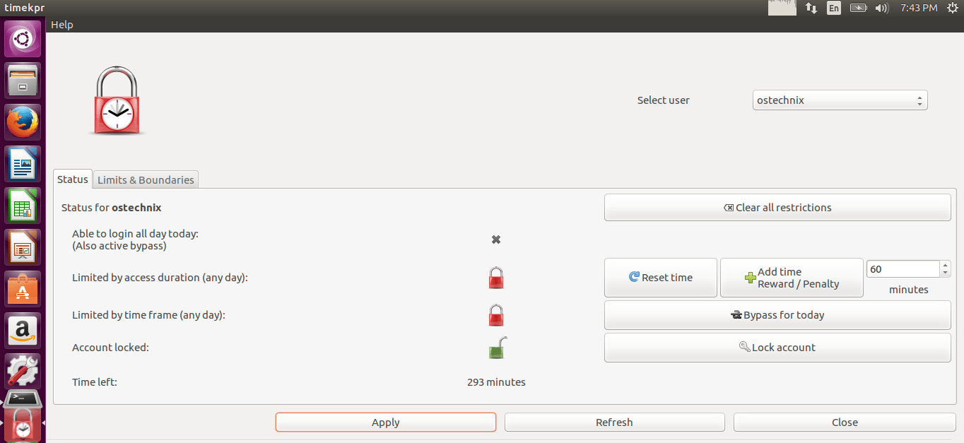 Timekpr – Control The Computer Usage Of User Accounts