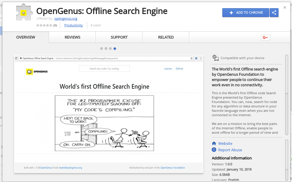 OpenGenus Quark: The World's First Offline Search Engine To Search Code