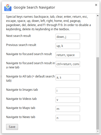 Google Search Navigator – Enhance Keyboard Navigation In Google Search