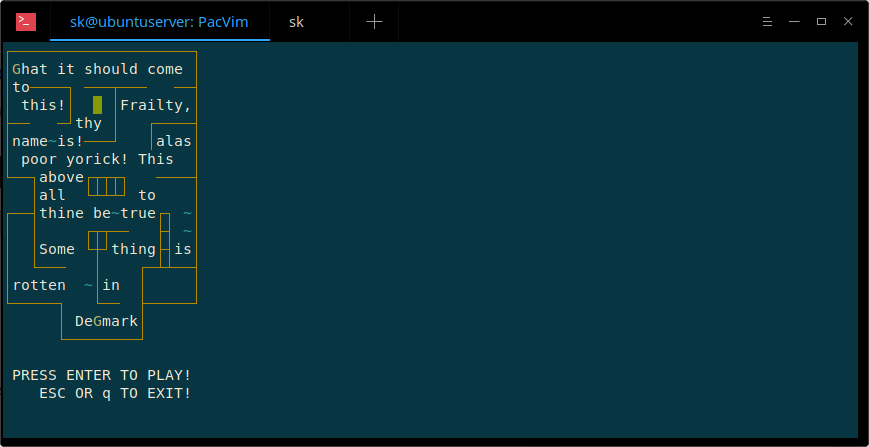 PacVim – A CLI Game To Learn Vim Commands