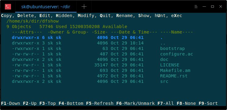 DF-SHOW – A Terminal File Manager Based On An Old DOS Application