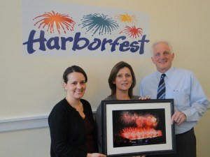 Pictured (Left to Right) are Harborfest President Chena Tucker, Entergy Senior Communications Specialist Tammy Holden, and Harborfest Executive Director Peter Myles at the time of sponsorship confirmation in January.