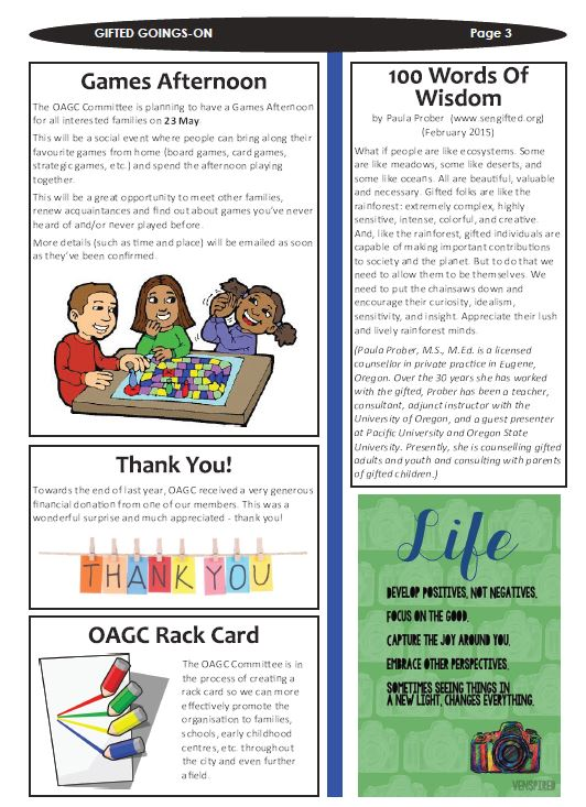 Sample Newsletters - OAGC