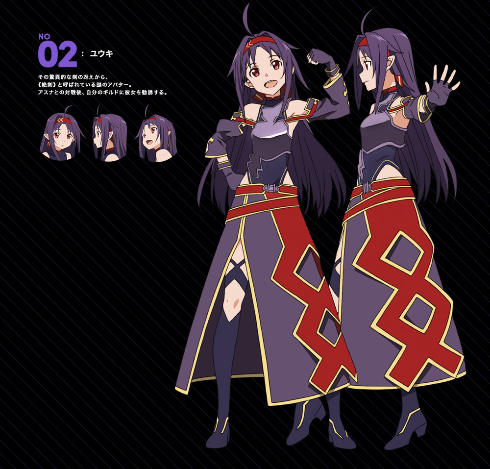 Sword Art Online II Mother's Rosario Character Designs