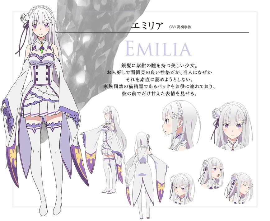 Anime Characters Zero : Re zero kara hajimeru isekai seikatsu anime debuts april