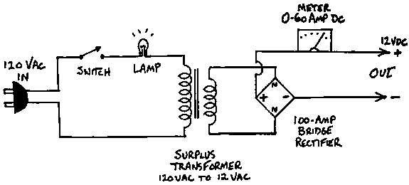 alternator battery charger