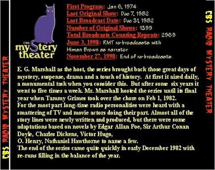 CBS Radio Mystery Theater - CD Case - Back - otrrorg