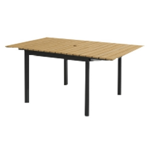 Pacific Casual 60quot X 30quot Parkside Faux Wood Patio Dining