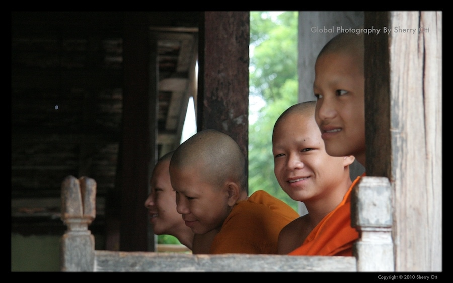 young monks laos