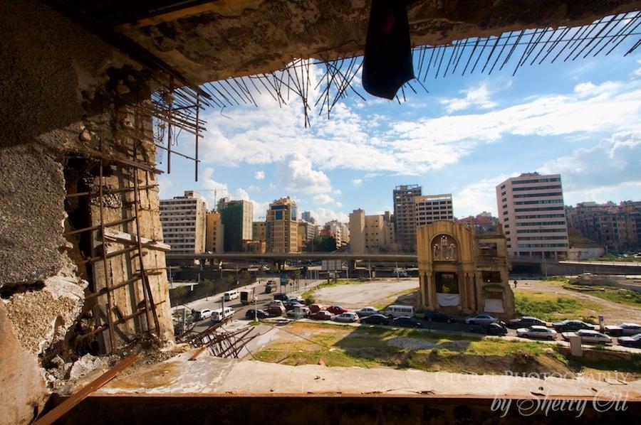 Beirut crumbling