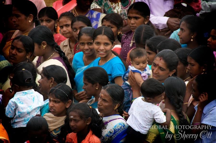 girls in crowd