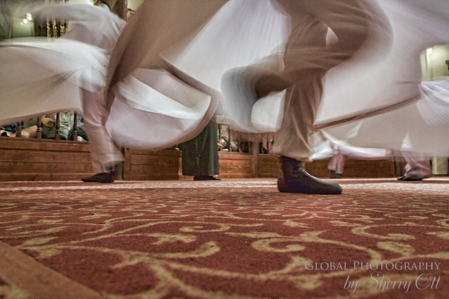 The footwork under the whirling dervish skirt