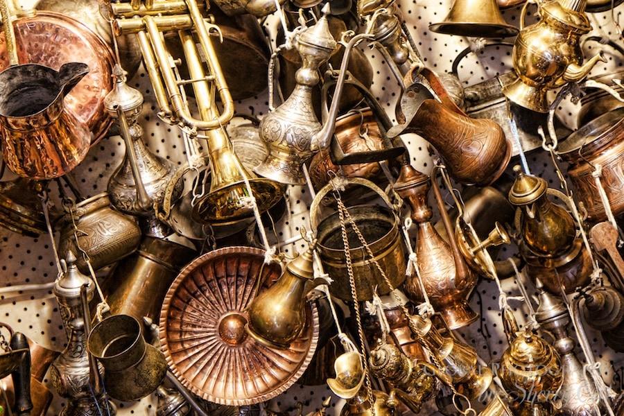 Metal antiques in the grand bazaar