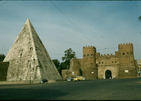 Pyramid of Cestius 1956