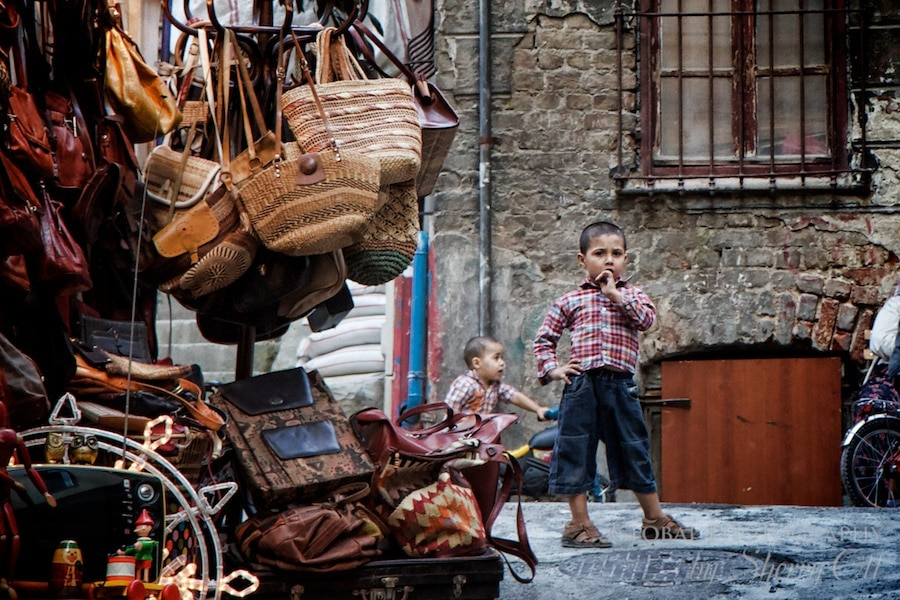 Baskets in Beyoğlu