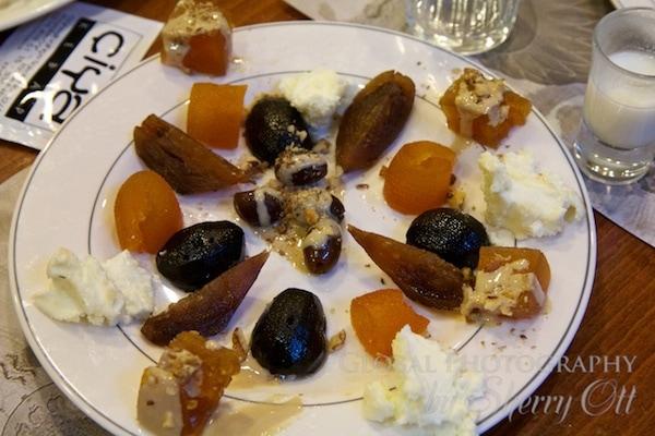 turkish desserts including Ceviz Macunu