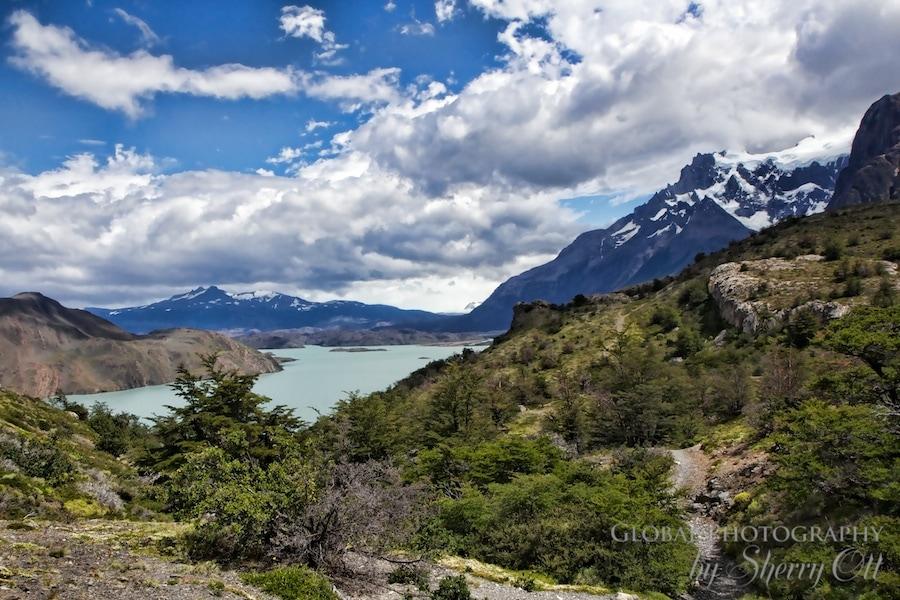 Mountains melt into lakes