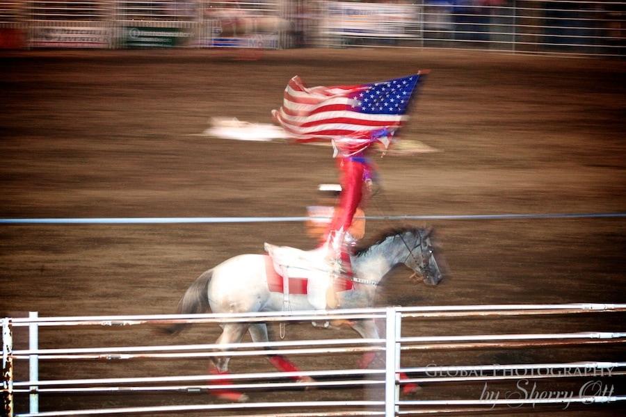 stunt riding flag