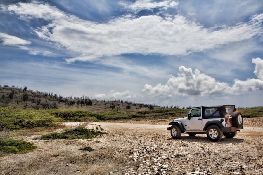 Jeep offroading in aruba