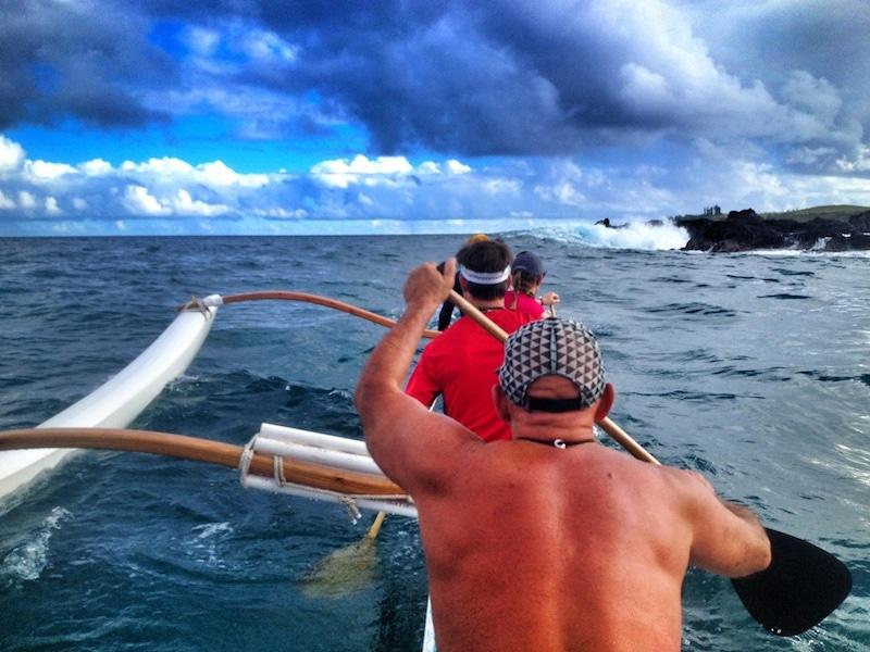 outrigger canoe paddling maui