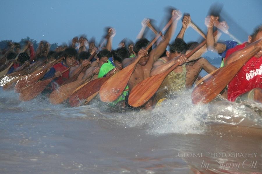 Mekong River boat racing laos