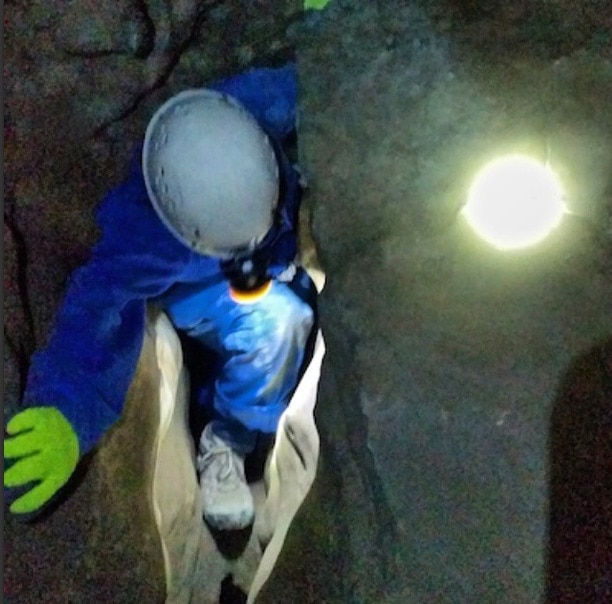 Caving Canmore Alberta