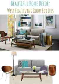 Beautiful Home Decor Ideas: West Elm Living Room For Less