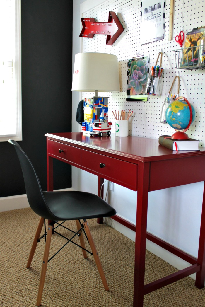 Pinterest Girls Kids Rooms With Wood Wallpaper Boy S Desk Area Our Fifth House