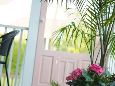 pink screen porch door