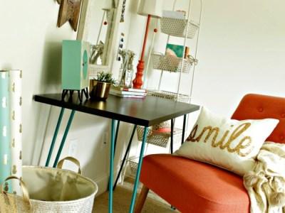 tween girl's desk and vanity