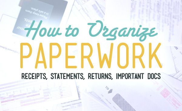 How to Organize Your Financial Paperwork Our Freaking Budget