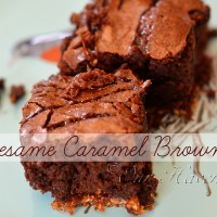 Recipe: Sesame Caramel Brownies