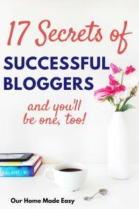 17 Secrets of Successful Bloggers!