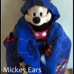 DIY:  Mickey Ears Hooded Blanket Tutorial