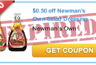 $.50/1 Newman's Own Salad Dressing Printable Coupon