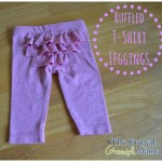 Repurposing Clothes: Ruffled T Shirt Leggings Tutorial