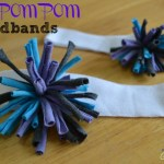 DIY Upcycled T-Shirt Pom Pom Headband