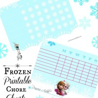 Keep Kids Motivated to Clean with Frozen Chore Chart Printables