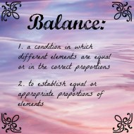Balance and What it Means for Me in 2015