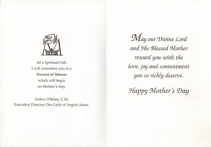 Mother\u0027s Day Cards \u2013 Our Lady of Angels Association