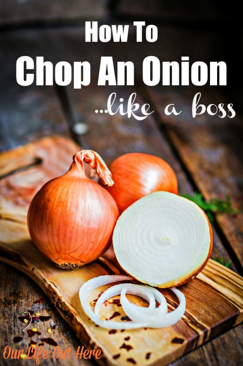 You don't need a special kitchen gadget to chop an onion, just a good knife, a cutting board and this technique. #kitchenhack #kitchentip #onions