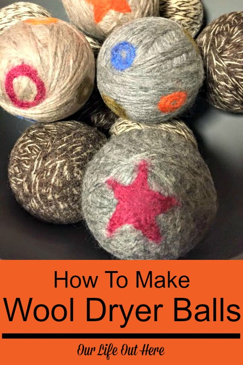Wool dryer balls both save you money and cut down on the chemicals in your home. Plus, they are super easy to make! Here's how. #frugalliving #greenliving #homemadecleaners