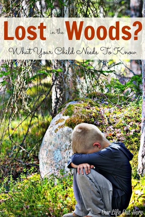Have you talked to your kids about what to do if they get lost in the woods? This one tip can make a world of difference. #parenting