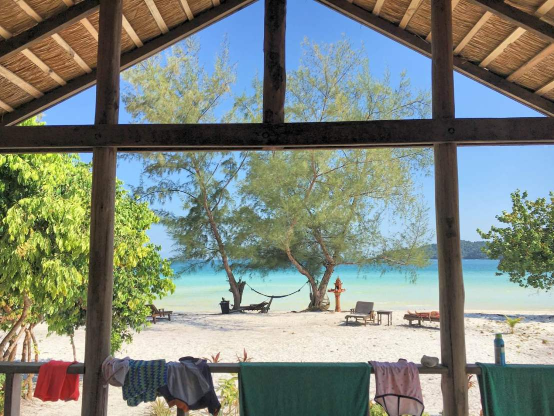 View from our bungalow at Secret Paradise Resort, Koh Rong Samloem island