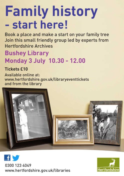 Family History-start here Events Our Oxhey