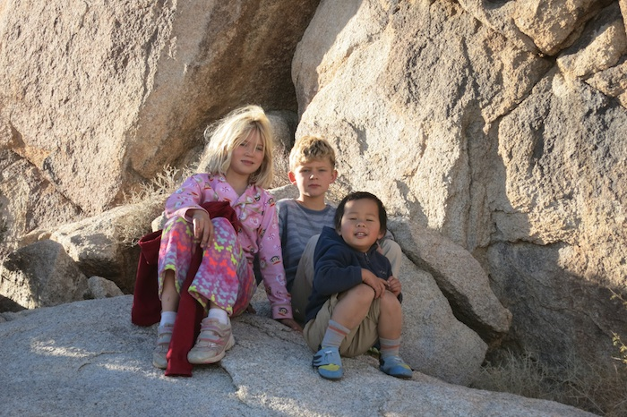 Hannah and Andrew were awesome kids. Look at Ty's feet...he got his first climbing shoes from these guys.